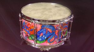 030 Dragon custom snare drum by InVistaArts