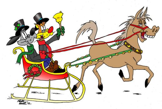 Bill and Buster Christmas Card 2012: Making Of (4) by MatthewHunter
