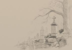Cemetery wip by Molamola
