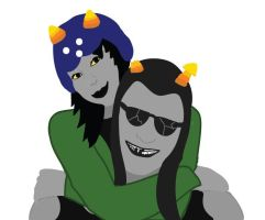 Nepeta and Equius by AnabellBroons