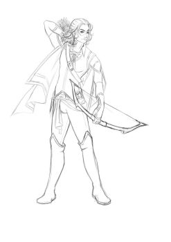 Renian Preview commission Sketch by saalenn