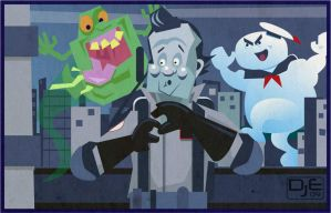 Bill Murray as Peter Venkman by johnnymartini
