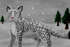 Snow Leopard Attempt by Ink-Leviathan