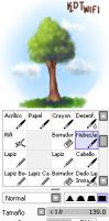 Pincel de nubes y follage de arbol para sai by kdtwifi