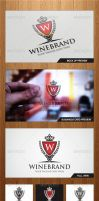 Wine Brand Logo Template - Graphicriver by Changyik