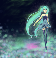 Miku in a Field of Color by EpicMunchTime