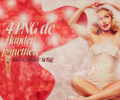 pack 4 png hayden panettiere by ValeVelez-222