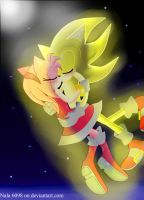 Super Sonic and Amy by Nala6098