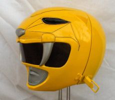 Yellow Ranger helmet by KaraZor-El