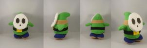 Green Shy Guy plush commission by pandari