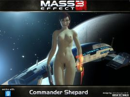 Nude Female Commander Shepard for Gmod (ME3) by DeusExNihilo