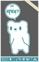 KNUT - the sticker by schakalwal