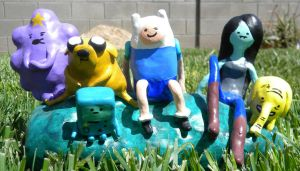 Adventure Time sculpture by TheDisappearingGirl