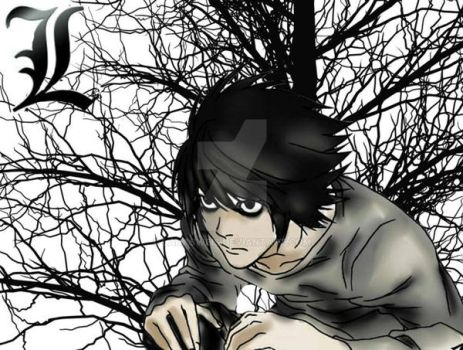L  character from my favorite anime Death Note by LanaSweis