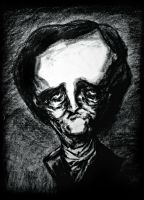Poe - charcoal by IronMaiden720