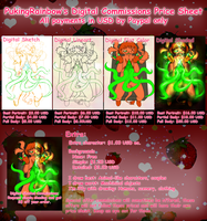 2015 Commission Price Sheet - OPEN by PukingRainbow