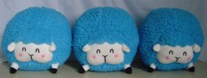 Cotton Candy Sheep Plush! _Blue by pinkplaidrobot