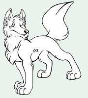 Free Dog Wolf Lineart by koisnake