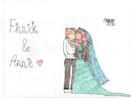 Finnick and Annie (edited and coloured) by lizzy905