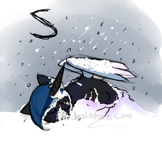 S is for Snowy who was caught in a blizzard by Voltage-X