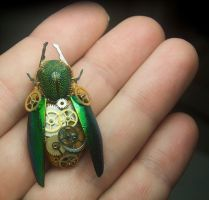Steampunk Scarab by Phoenix-Cry