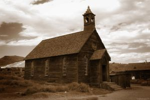 Little ol church on the prairie by arawyndesigns