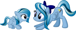 Lightning Breeze and her Filly Self by Java--Jive