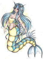Gyarados Mermaid by gryphonic19