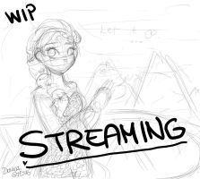 WIP, Streaming Elsa from Frozen by Drawing-Heart