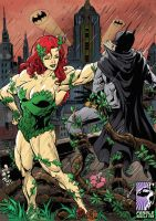 Pumped Up Poison Ivy by female-muscle-comics