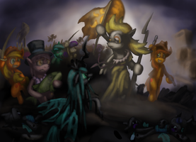 Libderpy Leading the Ponies by Cazra