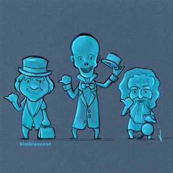 Haunted Mansion's Hitchhiking Ghosts! by bimblesnoot