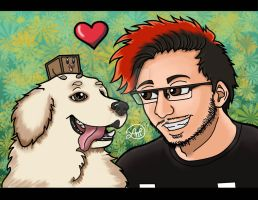 Markiplier and his Little Biscuits by Lindsay-N-Poulos