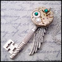 Steampunk Angel Wing Key 3 by SoulCatcher06