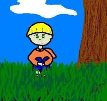Wally in the Grass by Ellaya