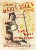 Vintage Burlesque Poster by MAdams06