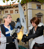 Seifer and Squall fighting by DocSkavenger