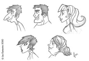 Pencil and Paper Profiles by 2Ajoe