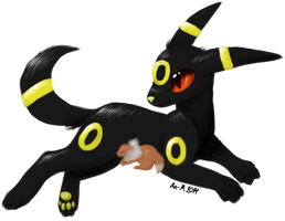 Umbreon momma by AnnissXD