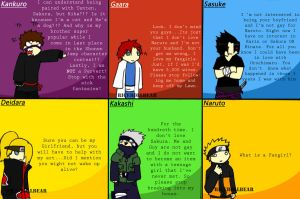 Naruto Guys speak on Fangirls by RiceRollBear