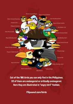 Endangered Philippine Angry Birds! by Filipeanuts