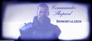 Commander Shepard Immortalized by RedVirtuoso