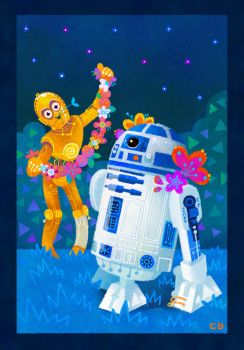 R2D2 and C3PO by pikaole