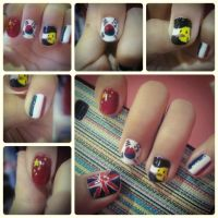 ~Hetalia Inspired nail Art~ by CrossxXxRose