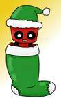 Deadpool in a stocking by Couy-Chan