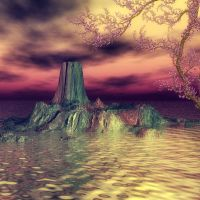 The Isle of Tharin by oldhippieart