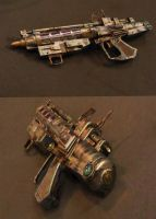 Steampunk Ray Gun by pinochioO-5