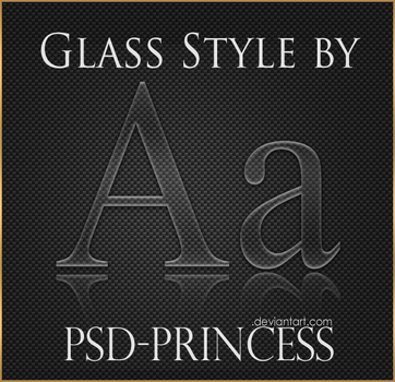 Photoshop Glass Style by Psd-Princess