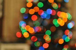Christmas Tree Bokeh by MaePhotography2010