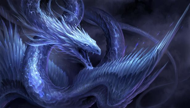 Blue Crystal Dragon by sandara